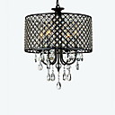 cheap Chandeliers-QINGMING® 4-Light Drum Chandelier Ambient Light - Crystal, 110V / 110-120V / 220-240V Bulb Not Included / 20-30㎡ / E12 / E14