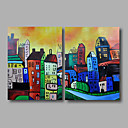 cheap Landscape Paintings-Oil Painting Hand Painted - Abstract Landscape Modern Canvas