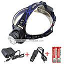 billige Mekaniske Ur-2000 lm Hodelykter LED 3 Modus 568-T6 01 - Zoombare / Vanntett / Justerbart Fokus