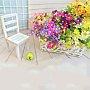 cheap Artificial Plants-Artificial Flowers 1 Branch Pastoral Style Daisies Tabletop Flower