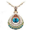 preiswerte Modische Halsketten-Damen Kristall Anhängerketten - Kubikzirkonia, Strass Tropfen damas, Modisch Farbbildschirm Modische Halsketten Schmuck Für