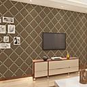 baratos Papel de Parede-Geométrica Decoração para casa Moderna Revestimento de paredes, Papel não tecido Material adesivo necessário papel de parede, Cobertura