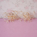 זול שרשראות-נשים נערת פרחים ריינסטון כיסוי ראש-חתונה אירוע מיוחד מסרקי שיער 2 חלקים