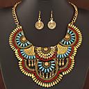 preiswerte Schmuckset-Damen Schmuck-Set Ohrringe Halsketten - Luxus Erklärung Modisch Europäisch Silber Golden Schmuckset Für Party Alltag Normal