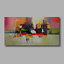 hesapli Monteler ve Tutucular-Hang-Boyalı Yağlıboya Resim El-Boyalı - Soyut Modern Tuval / Gerilmiş kanvas