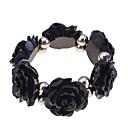 cheap Bracelets-Women's Strand Bracelet - Resin Roses, Flower Unique Design, Fashion Bracelet Orange / Beige / Pink For Party / Daily / Casual