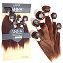 hesapli Paslanmaz Çelik-Düz Brezilya Saçı Düz Virgin Saç İnsan saç örgüleri 6 Demetleri 8-12 inç İnsan saç örgüleri İnsan Saç Uzantıları Kadın's