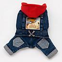 preiswerte Hundekleidung-Hund Kapuzenshirts Jeansjacken Hundekleidung Jeans Blau Baumwolle Kostüm Für Haustiere Herrn Damen Cowboy