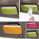 abordables Organización para Coche-soporte de papel para el sol del coche de caja del tejido del visera con accesorios de automóviles de clip titular