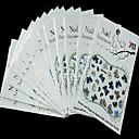 abordables Calcomanías de Uñas-Dedo - Encantador - Calcomanías de Uñas 3D / Joyas de Uñas - PVC - 6pcs - 62mm*52mm - (cm)