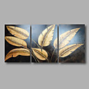 cheap People Paintings-Oil Painting Hand Painted - Floral / Botanical Modern Canvas