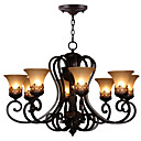 cheap Chandeliers-Ecolight 8-Light Chandelier Ambient Light Painted Finishes Metal Glass Crystal 110-120V / 220-240V Bulb Not Included / E26 / E27