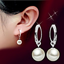 cheap Earrings-Women's Pearl Drop Earrings - Pearl, Sterling Silver, Silver Ball Basic, Simple Style, Fashion Silver For Wedding / Party / Birthday