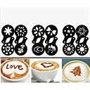 preiswerte Kaffee und Tee-12pcs Plastik ausgefallene Kaffeezuberdruckmodell minimalistisches Design Abstauben Pad