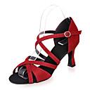 זול נעליים לטיניות-נעליים לטיניות נצנצים סנדלים עקב רחב מותאם אישית נעלי ריקוד כסף / אדום / כחול / הצגה / עור