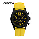 cheap Pendant Lights-SINOBI Men's Sport Watch Wrist Watch Quartz 30 m Water Resistant / Water Proof Sport Watch Cool Silicone Band Analog Yellow - Yellow