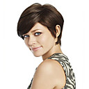 cheap Synthetic Wigs-Synthetic Wig Straight Synthetic Hair Brown Wig Women's Short Capless