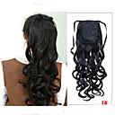 זול מדבקת ציפורן-Cross Type קוקו שיער סינטטי חתיכת שיער הַאֲרָכַת שֵׂעָר גלי