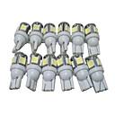 abordables Luces de Circulación Diurna-12pcs T10 Coche Bombillas 2.5W SMD 5050 90lm 5 LED las luces exteriores