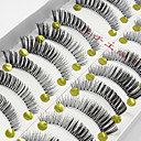 cheap Makeup Brush Sets-Eyelash Extensions False Eyelashes 20 pcs Extended Lifted lashes Volumized Fiber Full Strip Lashes Crisscross Natural Long - Makeup Daily Makeup Party Makeup Cosmetic Grooming Supplies