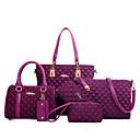 cheap Bag Sets-Women's Bags Nylon Tote / Wallet / Shoulder Bag 6 Pieces Purse Set Purple / Fuchsia / Blue / Bag Sets