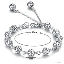 cheap Bracelets-Women's Hollow Out Chain Bracelet / Charm Bracelet - Sterling Silver Bracelet White For Wedding / Party / Daily