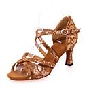 olcso Latin cipők-Női Latin cipők Pihe Szandál Minta Kúpsarok Személyre szabható Dance Shoes Fekete / Barna / Fekete és arany / Teljesítmény / Bőr