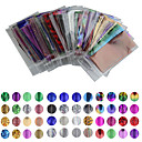 billige Folie af papir-50 pcs Nail Foil Striping Tape Negle kunst Manicure Pedicure Smuk Tegneserie / Punk / Mode Daglig / Folie Stripping Tape