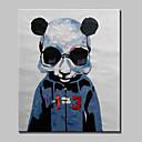olcso Állatos festmények-Hang festett olajfestmény Kézzel festett - Állatok Állatok Tartalmazza belső keret / Nyújtott vászon