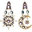 baratos Artigos de Forno-Mulheres Brincos Compridos - Imitações de Diamante MOON Luxo, Europeu, Fashion Cor Ecrã Para