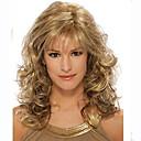 billige Syntetiske parykker uten hette-Syntetiske parykker Krøllet Syntetisk hår Parykk Dame Medium Lengde Lokkløs