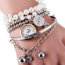 baratos Adesivos de Parede-Mulheres Bracele Relógio Venda imperdível Lega Banda Com Pérolas / Fashion Prata / Dourada / Um ano / SSUO LR626
