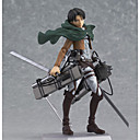 billige Anime actionfigurer-Anime Action Figurer Inspirert av Attack on Titan Eren Jager PVC 14 cm CM Modell Leker Dukke