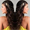 hesapli Saç Mücevheri-Kadın's Sevimli Parti İmitasyon İnci alaşım Saç Tarağı, Tüm Mevsimler Altın