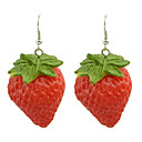 cheap Earrings-Women's Resin Drop Earrings - Resin Strawberry For Party / Daily
