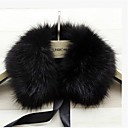 cheap Wedding Wraps-Sleeveless Faux Fur Party Evening / Casual Fur Wraps / Fur Accessories / Faux Leather With Collars