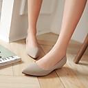 رخيصةأون حقائب السفر-نساء أحذية جلد ربيع صيف خريف كعب منخفض من أجل فضفاض الأماكن المفتوحة المكتب & الوظيفة أسود البيج أحمر أخضر