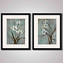cheap Framed Arts-Framed Art Print Framed Canvas Framed Set Abstract Landscape Still Life Floral/Botanical Wall Art, PVC Material With Frame Home Decoration