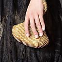 povoljno Clutch i večernje torbice-Žene Crystal / Rhinestone Večernja torbica Kristalne vrećice od kristalnog kamena Opeka Zlato / Obala / Crn