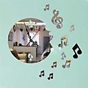halpa Peilit Wall Clocks-Vapaa-aika Moderni/nykyaikainen Toimisto/työ Muovi Pyöreä Sisällä,AA