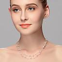 זול סטים של תכשיטים-בגדי ריקוד נשים דמוי פנינה סט תכשיטים - אחרים כסף
