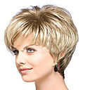 cheap Synthetic Capless Wigs-Synthetic Wig Curly Synthetic Hair Blonde Wig Women's Short Capless