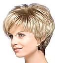 preiswerte Modische Uhren-Synthetische Perücken Locken Blond Synthetische Haare Blond Perücke Damen Kurz Kappenlos Blondine