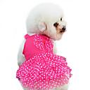 povoljno Odjeća za psa-Pas Haljine Odjeća za psa Na točkice Mašna Crvena Plava Pink Pamuk Kostim Za Proljeće & Jesen Ljeto Žene Moda