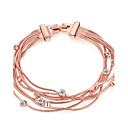 cheap Phone Cables & Chargers-Women's Chain Bracelet - Rose Gold, Rhinestone, Rose Gold Plated Fashion Bracelet Gold For Wedding Party Daily / Imitation Diamond