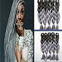 billige Syntetisk hairextension-farge kjemisk fiber flette afrikansk svart parykk farge gradient
