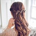 זול תכשיטים לשיער-קליפס לשיער סגסוגת פרח פשוט / רומנטי / מקרי / ספורטיבי בגדי ריקוד נשים / סיכות שיער / סיכות שיער