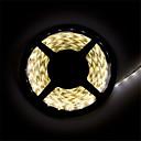 billige LED Strip Lamper-5 m Fleksible LED-lysstriper 300 LED 2835 SMD Varm hvit / Hvit Kuttbar / Vanntett / Koblingsbar 12 V / IP65 / Selvklebende
