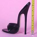 זול שעוני גברים-בגדי ריקוד נשים נעליים דמוי עור קיץ נוחות סנדלים עקב סטילטו לבן / שחור / מסיבה וערב / מסיבה וערב