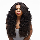 cheap Synthetic Capless Wigs-Synthetic Wig Curly Synthetic Hair Black Wig Women's Long Capless